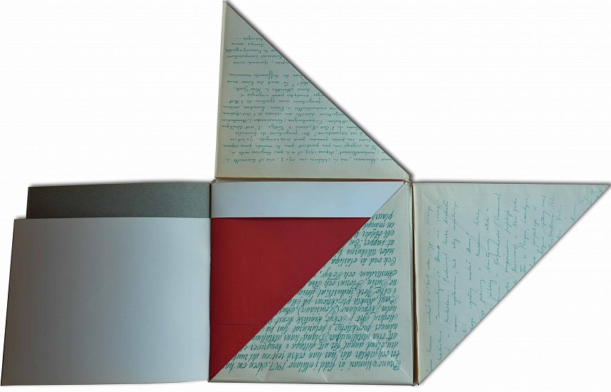 Bruno Munari, De Kwadraat-Bladen - The Quadrat-Prints - Le feuilles-Cadrat - Die Quadrat-Blatter. An unreadable quadrat-print by Bruno Munari. 1953