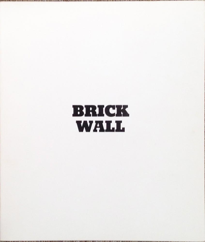 931d28ebf461b Sol Lewitt | Brick Walls | 1975 | Zucker Art Books