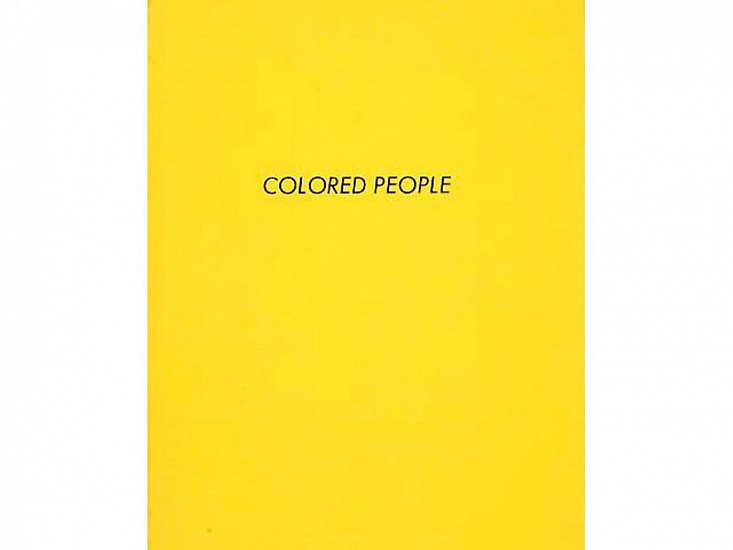 Ed Ruscha, Colored People 1972