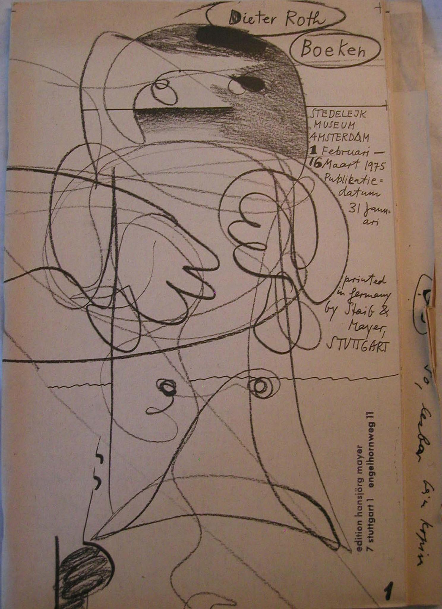 Dieter Roth Drawings Boeken 1975