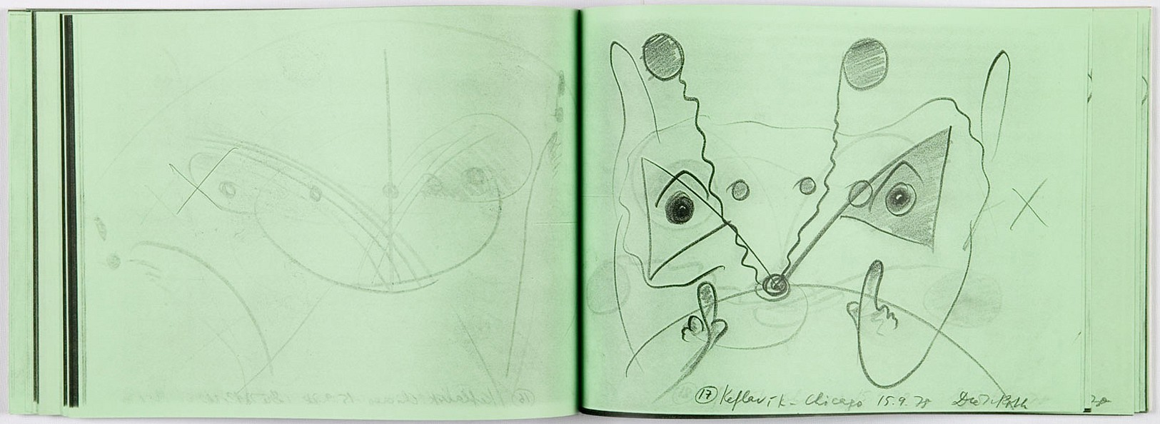 Dieter Roth Drawings 27 Made On The Aeroplane 1994