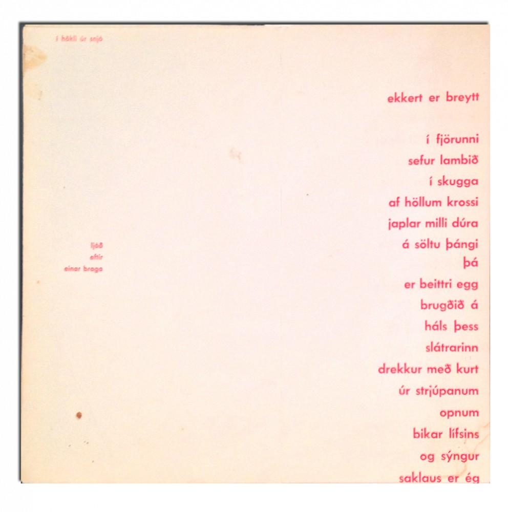 Dieter Roth Prints | I hokli ur snjo | 1958 | Zucker Art Books