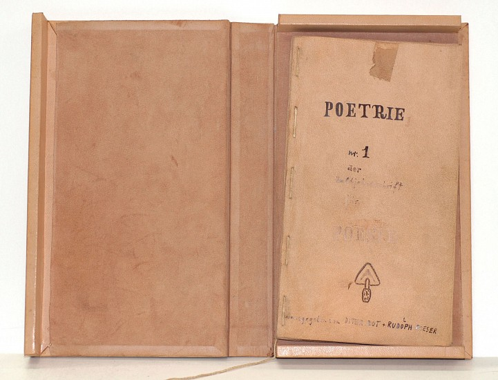 7cd4a29ebbcb Dieter Roth   Poetrie 1 DELUXE   1966   Zucker Art Books